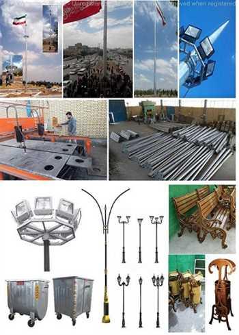 پایه چراغ فلزی